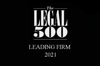 Cai & Lenard are Recommended by The Legal 500 EMEA 2021 in Banking, Finance and Capital Markets